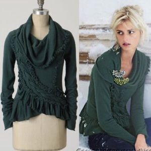 Anthropologie Guinevere Sweeping Frills Sweater